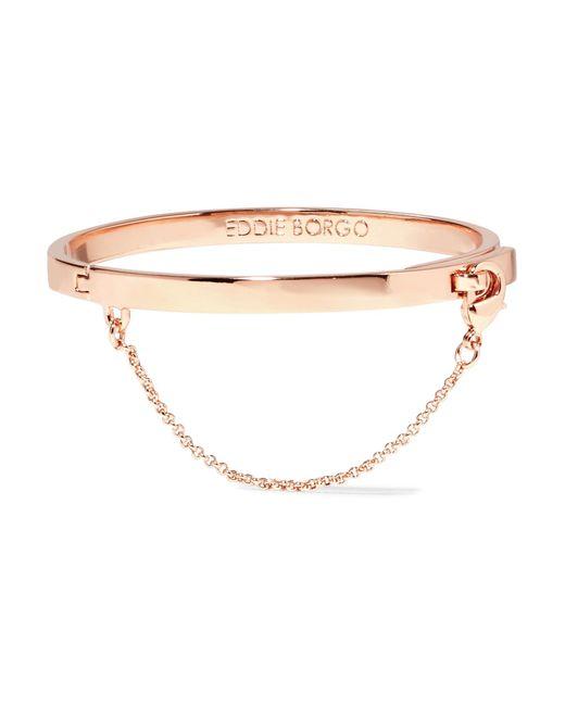 Eddie Borgo   Metallic Safety Chain Rose Gold-plated Bracelet   Lyst