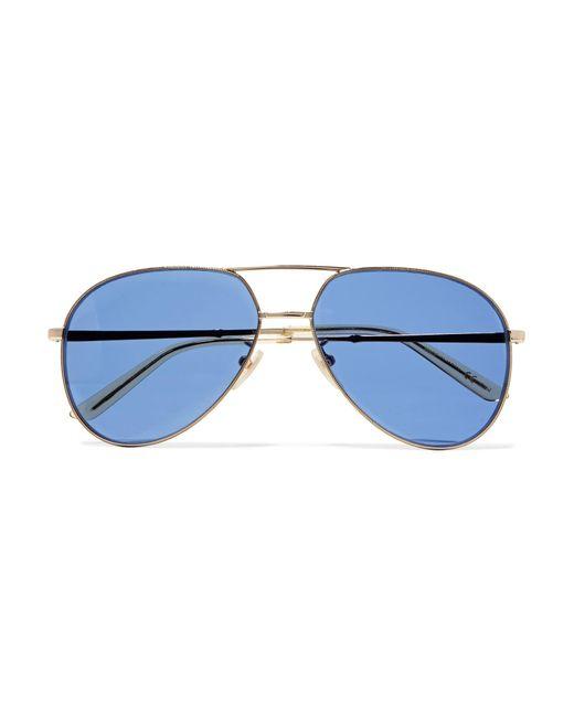 1b9f43d41b4 Gucci - Metallic Aviator-style Gold-tone Sunglasses - Lyst ...