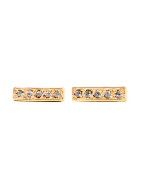 Chan Luu - Metallic Gold-plated Diamond Earrings - Lyst