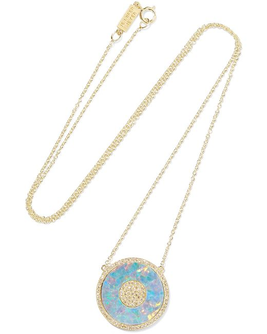 Jennifer Meyer - Metallic 18-karat Gold, Opal And Diamond Necklace - Lyst