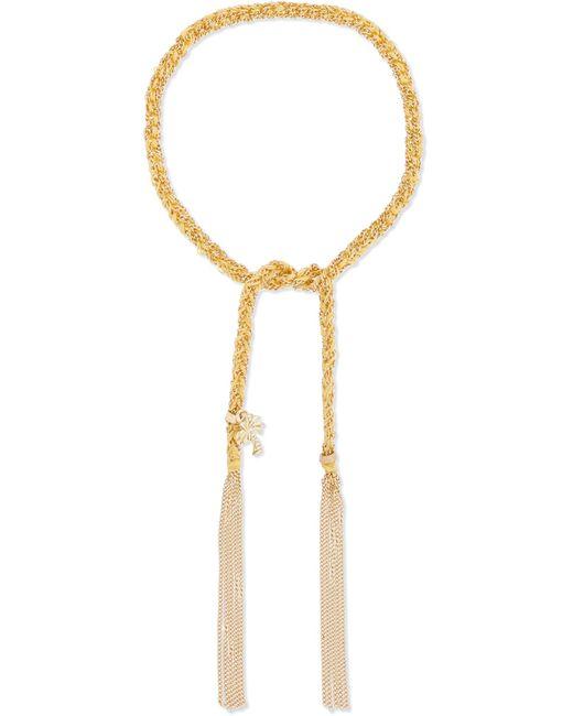 Carolina Bucci - Metallic Travel Lucky 18-karat Gold And Silk Bracelet - Lyst