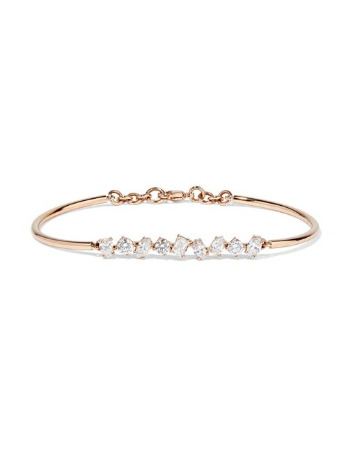 Kimberly Mcdonald - Metallic 18-karat Rose Gold Diamond Bracelet - Lyst