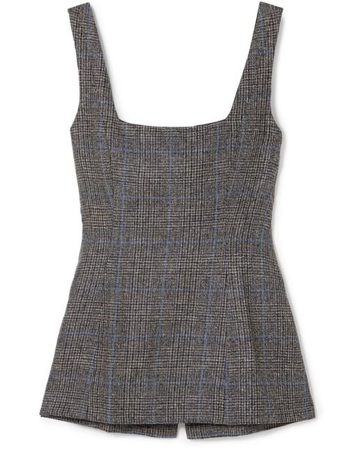 Georgia Alice | Gray Highway Checked Woven Linen Top | Lyst