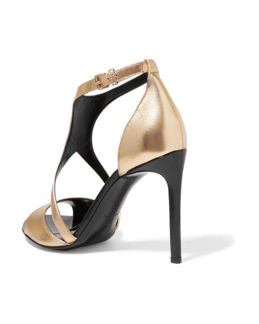 clearance shop offer Lanvin Patent Leather Cutout Sandals sale manchester great sale outlet get authentic cheap view Cv4sREw7