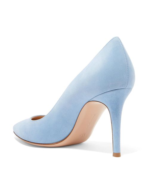 85 Suede Pumps - Sky blue Gianvito Rossi 6A00jy4C4h