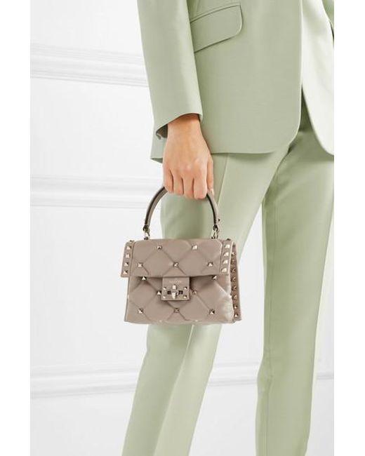 2df0ef30608 ... Valentino - Multicolor Garavani Candystud Mini Quilted Leather Shoulder  Bag - Lyst ...
