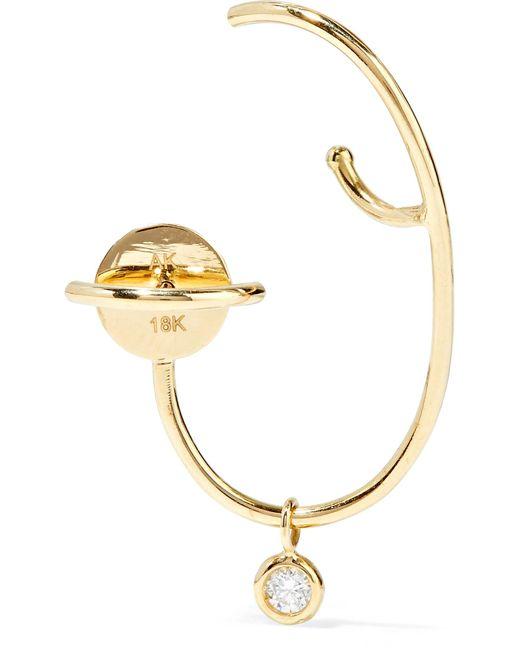 Ana Khouri | Metallic Lily 18-karat Gold Diamond Earring | Lyst