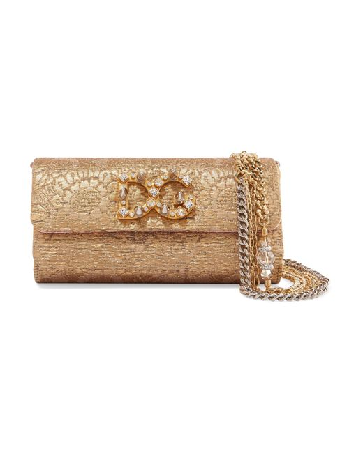 Dolce & Gabbana - Metallic Sac Porté épaule En Jacquard Métallisé à Ornements Dorina - Lyst