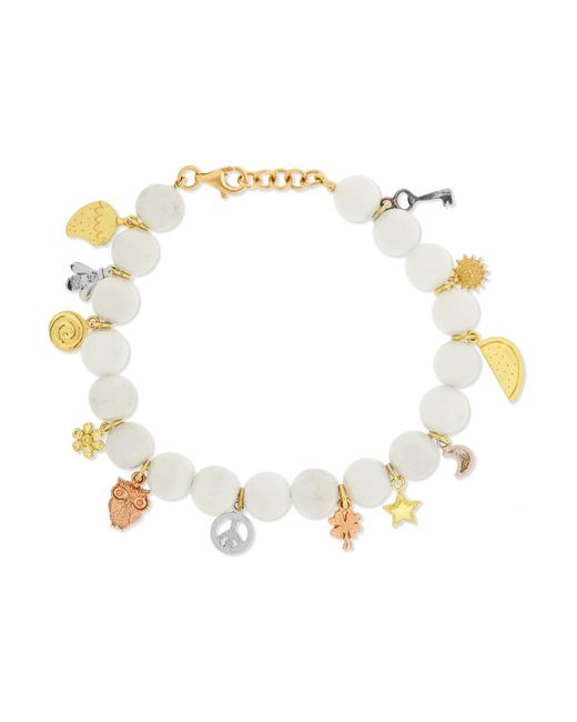 Carolina Bucci - Metallic Recharmed Lucky 18-karat Yellow, Rose And White Gold And Agate Bracelet - Lyst