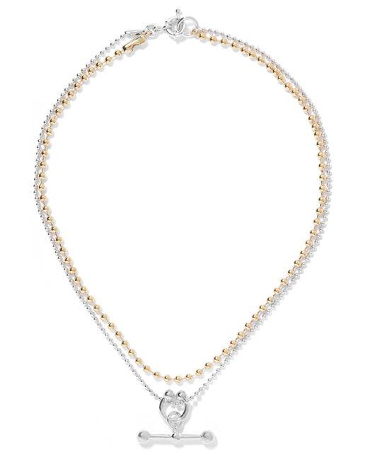 Eddie Borgo | Metallic Gold And Rhodium-plated Necklace | Lyst