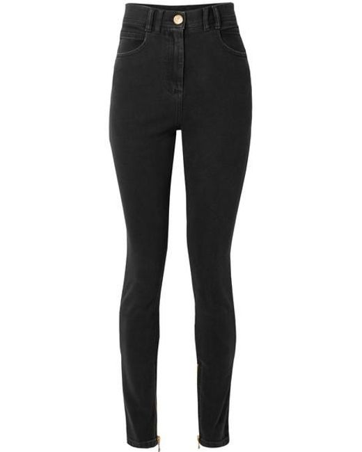 2e4ac17f Balmain - Black High-rise Skinny Jeans - Lyst ...