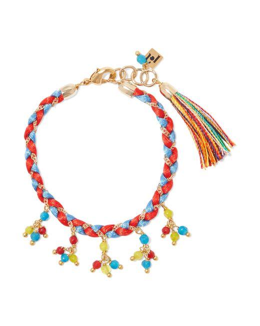 Rosantica | Red Arlecchino Braided Gold-tone Quartz Bracelet | Lyst