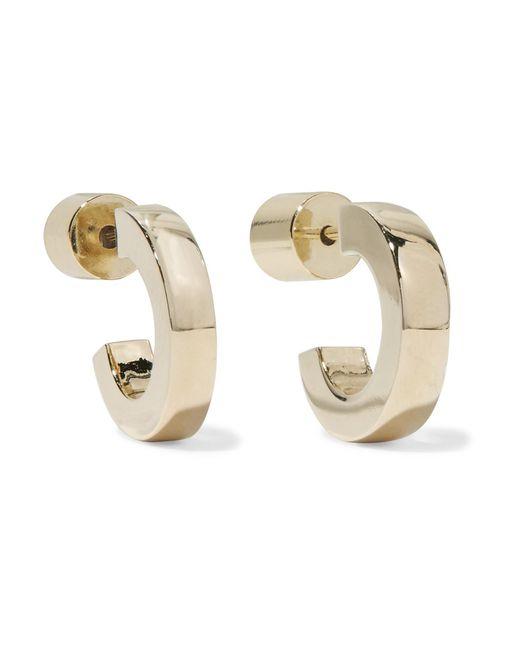 Jennifer Fisher - Metallic Small Huggies Gold-plated Hoop Earrings - Lyst