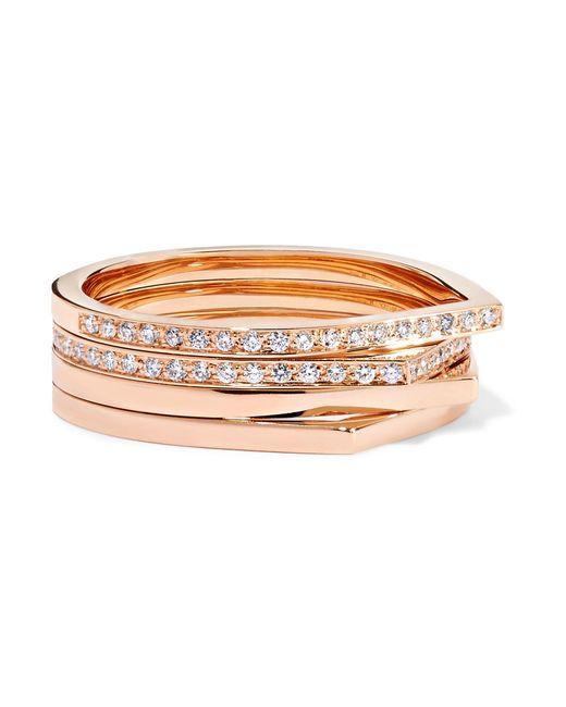 Repossi - Metallic Antifer 18-karat Rose Gold Diamond Ring Rose Gold 56 - Lyst