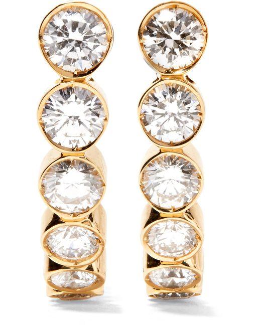 Sophie Bille Brahe - Metallic Boucle Ensemble 18-karat Gold Diamond Earrings - Lyst