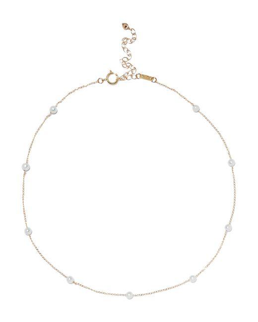Mizuki - Metallic 14-karat Gold Pearl Choker - Lyst
