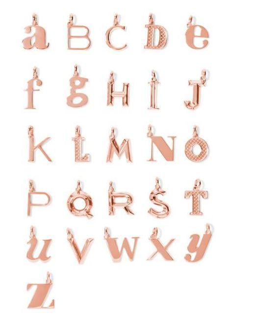 Monica Vinader - Metallic A-z Alphabet Letter Rose Gold Vermeil Pendants - Lyst