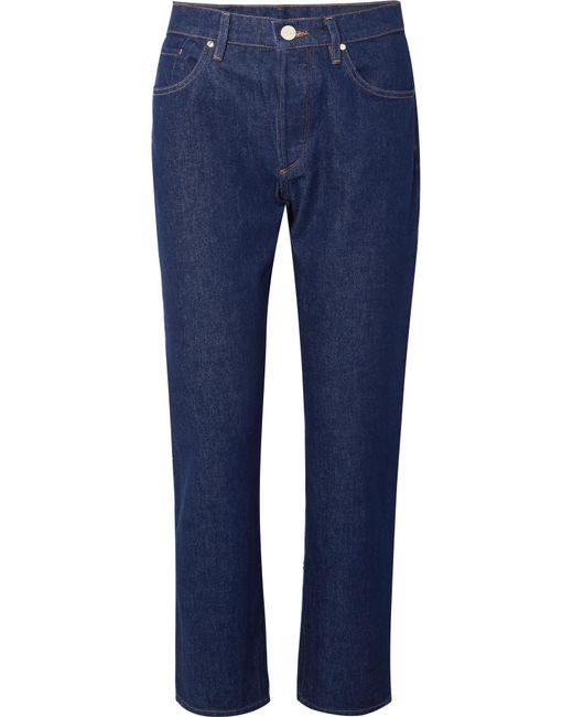 Goldsign - Blue The Benefit High-rise Straight-leg Jeans - Lyst