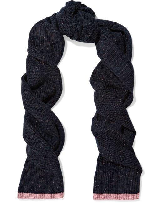 Rag & Bone - Blue Jubilee Metallic Merino Wool-blend Scarf - Lyst