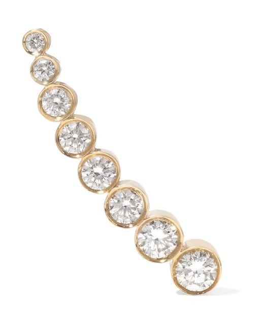 Sophie Bille Brahe - Metallic Croissant De Lune 18-karat Gold Diamond Ear Cuff - Lyst