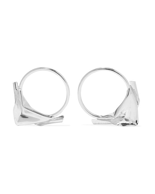 Wwake - Metallic Closer By Sterling Silver Earrings - Lyst