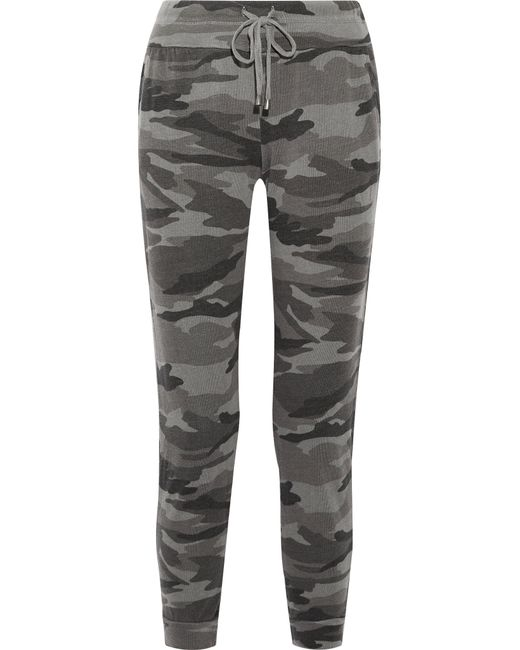 Splendid | Multicolor Camouflage-print Terry Track Pants | Lyst