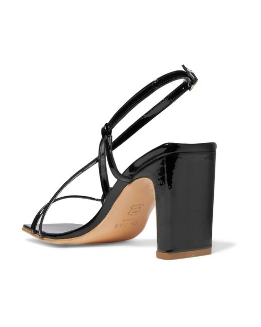Carrie Patent-leather Slingback Sandals - Black by FAR