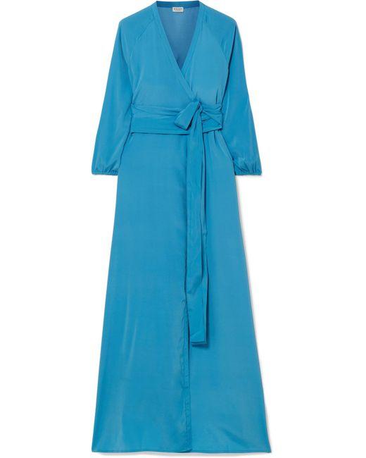 Rhode Resort - Blue Jagger Silk Crepe De Chine Wrap Dress - Lyst