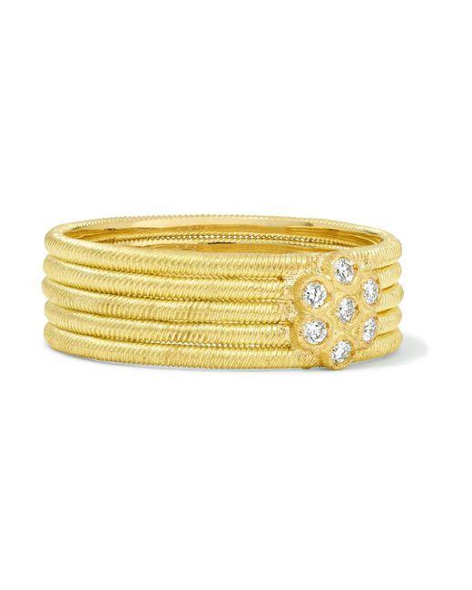 Buccellati - Metallic Hawaii 18-karat Gold Diamond Ring - Lyst