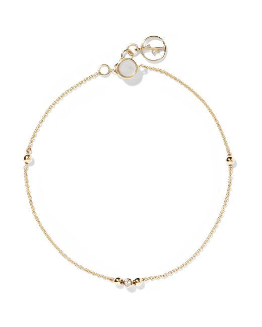 Anissa Kermiche - Metallic 14-karat Gold, Sapphire And Mother-of-pearl Bracelet - Lyst