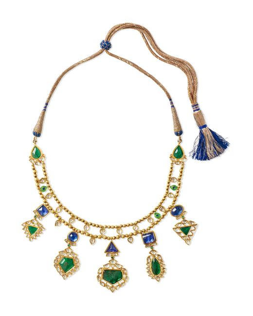 Amrapali - Metallic 18-karat Gold Multi-stone Necklace - Lyst