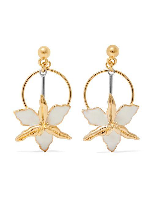 Marni   Metallic Gold-tone, Silver-tone And Enamel Earrings   Lyst