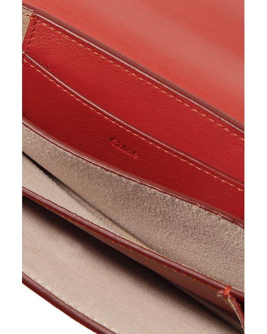 46c5533d82779 Lyst - Chloé Drew Bijou Clutch in Red - Save 40%