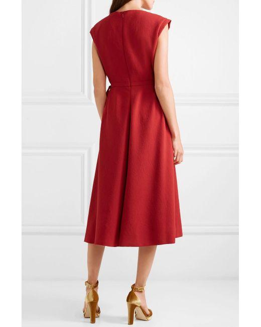 Bow-detailed Crepe Midi Dress - Red Bottega Veneta Discount 100% Original 100% Original Free Shipping Visit qr9e17c22