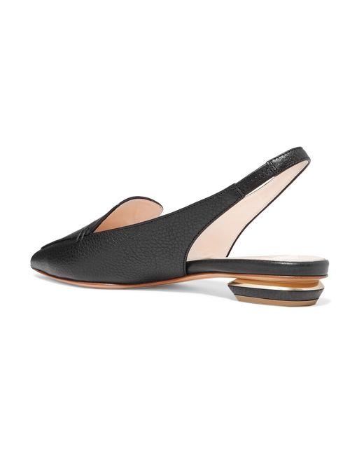 newest d0faa 493fb nicholas-kirkwood-black-Beya-Textured-leather-Point-toe-Flats.jpeg