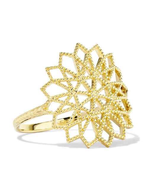 Grace Lee - Metallic Lace Deco Vi 14-karat Gold Ring - Lyst