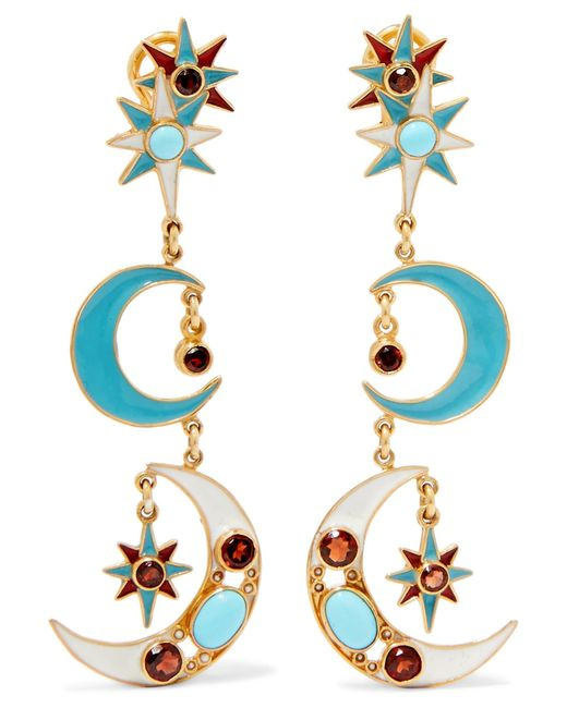 Percossi Papi   Metallic Gold-plated Multi-stone Earrings   Lyst