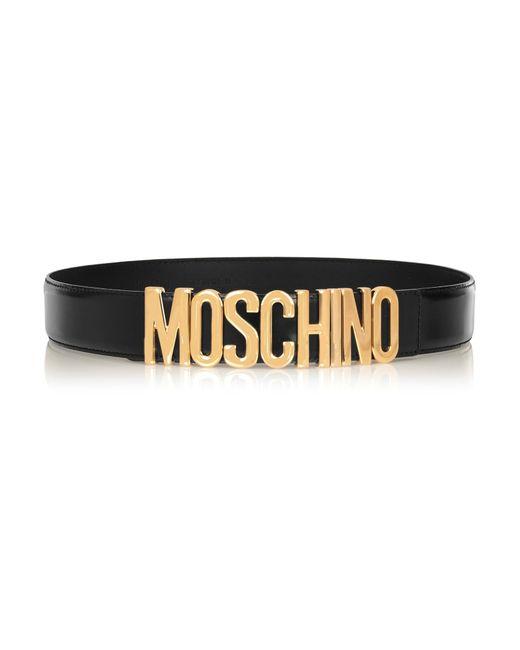 Moschino | Black Olivia Embellished Patent-leather Belt | Lyst