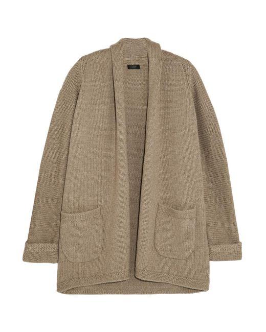 J.Crew - Natural Cotton-blend Cardigan - Lyst