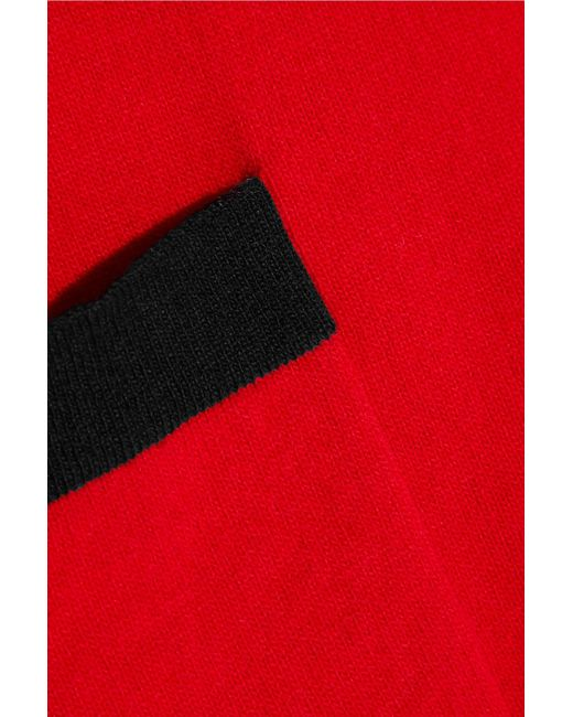 0126bf20c51a89 ... Gucci - Red Two-tone Wool And Cashmere-blend Top - Lyst