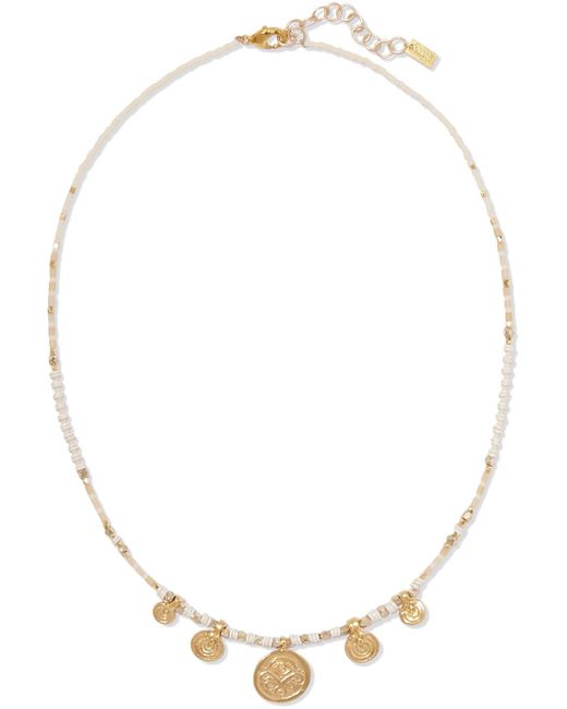 Chan Luu - Metallic Gold-tone Beaded Necklace - Lyst