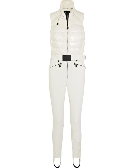 Moncler Grenoble - White Belted Quilted Ski Suit - Lyst