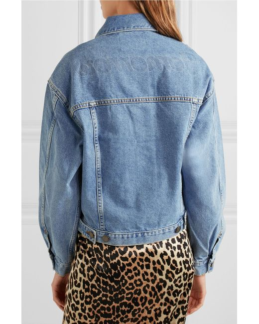 d132bb7ec2b5b3 ... Maje - Blue Denim Jacket - Lyst ...