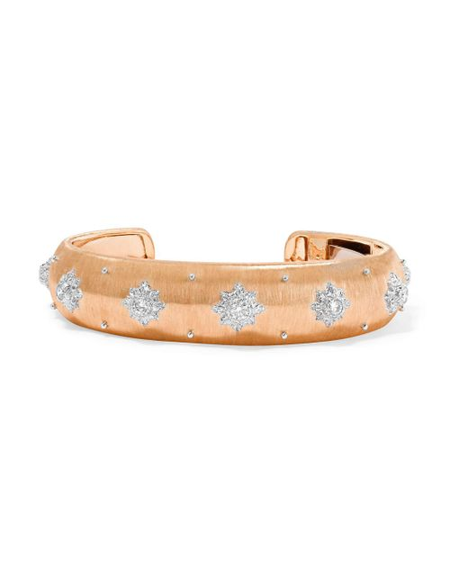 Buccellati - Multicolor Macri 18-karat Pink And White Gold Diamond Cuff - Lyst