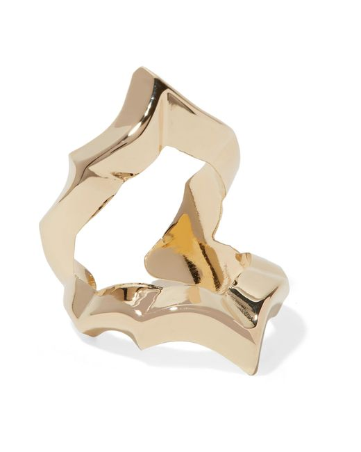 Jennifer Fisher - Metallic Crystal Gold-plated Ring - Lyst