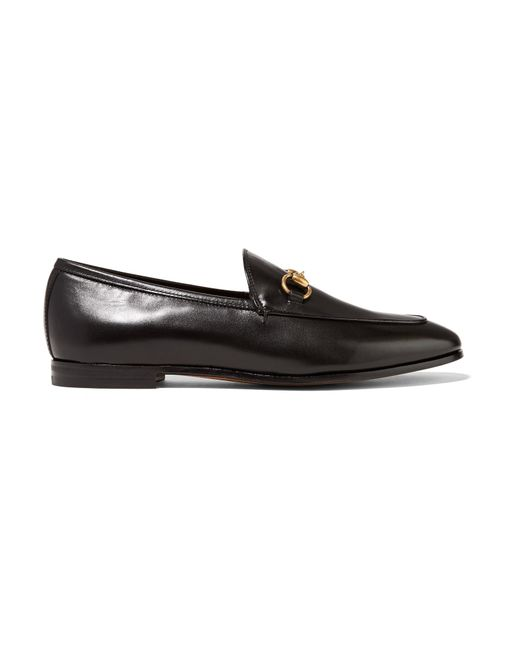 51ca62cd262 Gucci - Black Horsebit-detailed Leather Loafers - Lyst ...