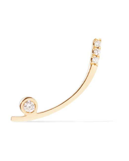 Jennie Kwon | Metallic 14-karat Gold Diamond Earring | Lyst
