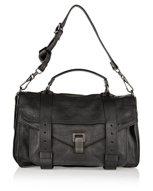 Proenza Schouler | Black The Ps1 Medium Leather Satchel | Lyst