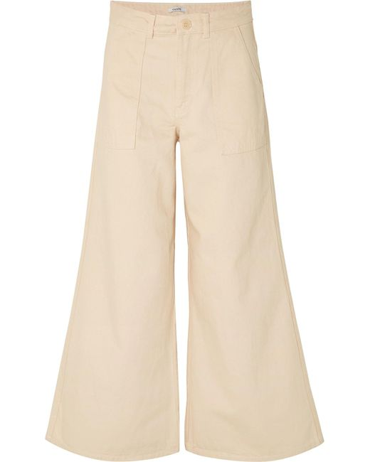 Ganni - Natural High-rise Wide-leg Jeans - Lyst