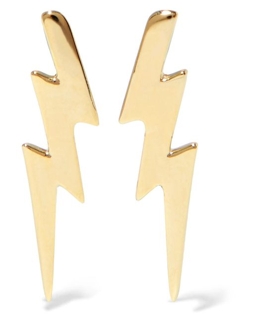 Jennifer Fisher | Metallic Bolt Gold-plated Earrings | Lyst